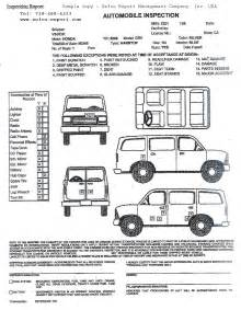 Vehicle Inspection Report Template by Vehicle Inspection Report Sle Sefco Usa International