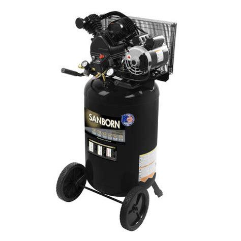 sanborn 174 belt drive 30 gallon portable electric vertical air compressor at menards 174