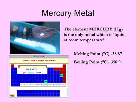 Only Metal Liquid At Room Temperature by Metals Physical Properties