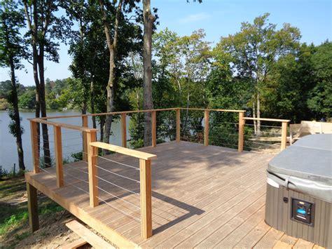 terrasse en bois ossature bois bardage terrasse bois 224 suc 233 sur erdre