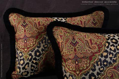 Designer Pillows by Leopardo Damask Brocade Brunschwig And Fils Velvet