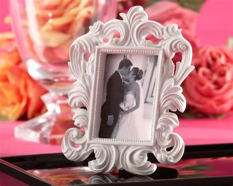 White Baroque Place Card Holder/Photo Frame   Wedding