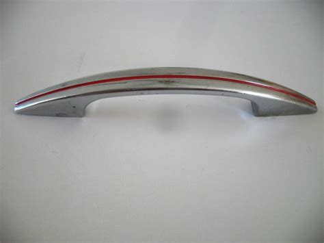 art deco pulls vintage 1950 s chrome door pulls red lines