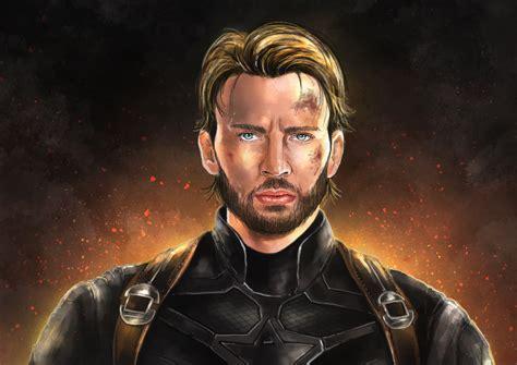 captain america wallpaper hd portrait captain america with beard artwork hd superheroes 4k