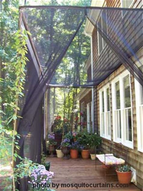 mosquito drapes mosquito curtains make for easy and affordable porch