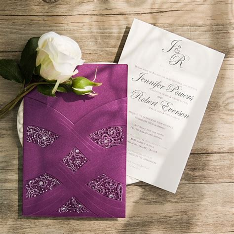 Purple Wedding Invitations Kits