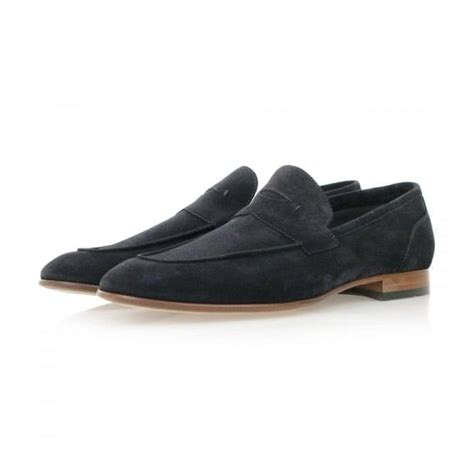 hugo blue suede loafers hugo artiloseo blue suede loafer shoes