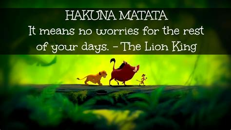 about us no worries with hakuna matata quotes quotes