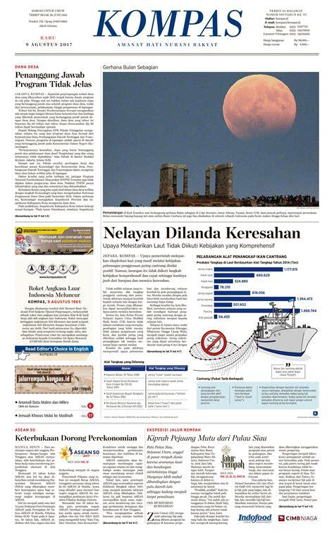 Koran Kompas Bekas 1 jual koran kompas pagi 09 agustus 2017 scoop indonesia