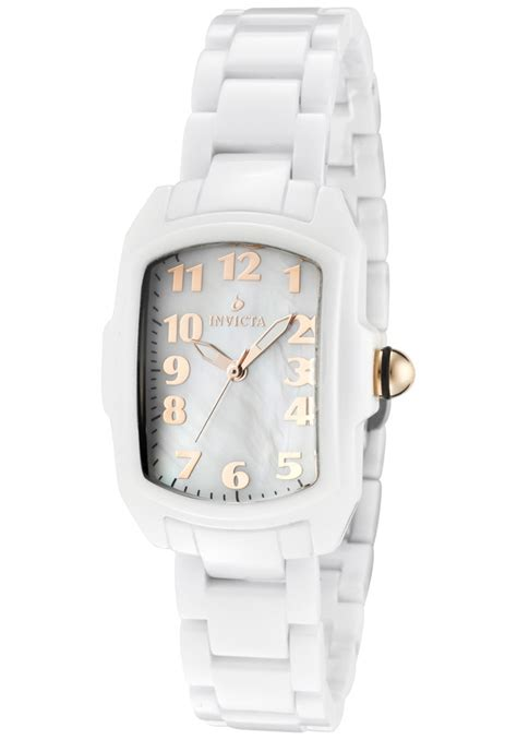 invicta watches s ceramics white of pearl