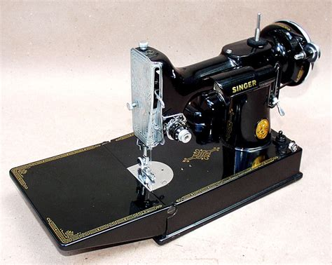 singer featherweight sewing machine meeker s patented antiques com antiques of a mechanical nature