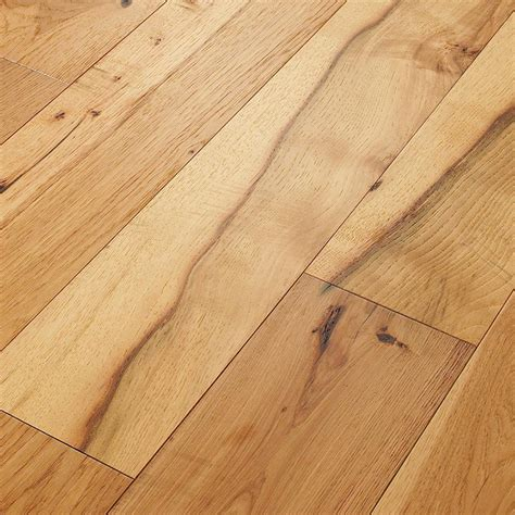 Plank Hardwood Flooring Shaw Living Belvoir Hickory York 9 16 In Thick X 7 1 2 In Wide X Varying Length Engineered