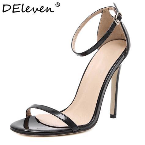fashion classics brand name za r peep toe buckle trap high