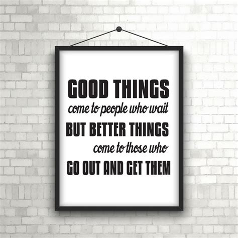 Hang Pictures On Wall inspirational quote in picture frame hanging on a brick