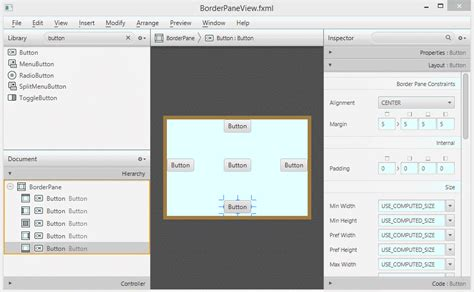 javafx layout design javafx borderpane layout tutorial
