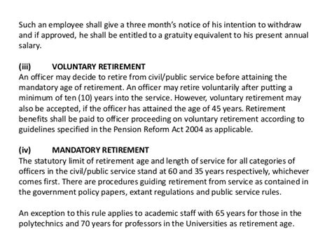 Gratuity Withdrawal Letter disengagement from the service