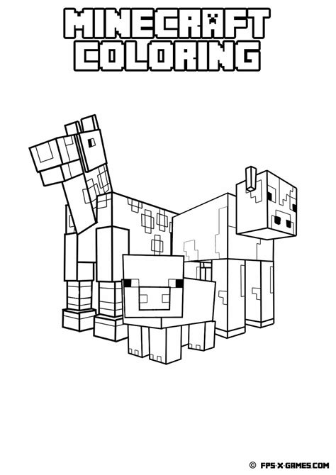 minecraft coloring pages all mobs minecraft horse coloring pages to print coloring pages