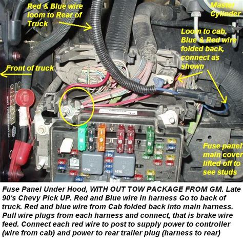 chevy brake controller install  tow package