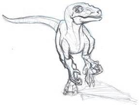 velociraptor sketch by constantm0tion on deviantart