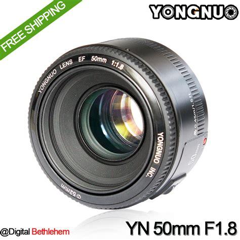 Yongnuo Yn 50mm F1 8 Lens Lensa For Canon Ef Termurah yongnuo yn 50mm f1 8 lens large aperture auto focus lens 50mm f1 8 for canon eos dslr cameras in