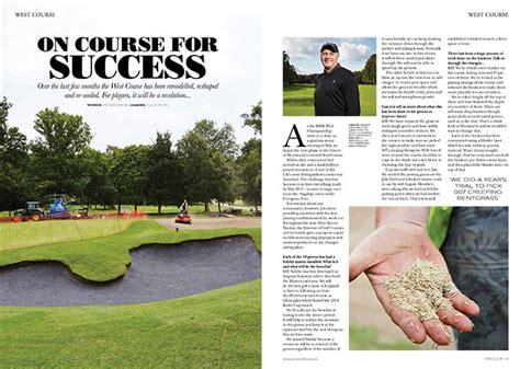 magazin layout seminar wentworth golf club red onion design