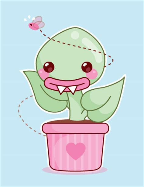 Kawaii Venus artwork of venus flytraps from around the net drawings paintings sculptures or other