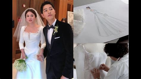 wedding dress song reveals of song hye kyo s wedding dress song