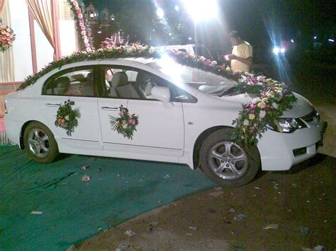 Car Decorations by Car Decoration Side Pose Florist Ahmedabad Flower