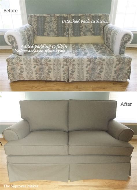 ethan allen slipcover sofa ethan allen loveseat slipcover before and after the