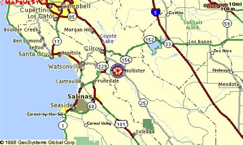 california map hollister hollister california map