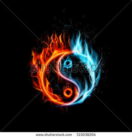 fire yin yang stock images royalty free images amp vectors