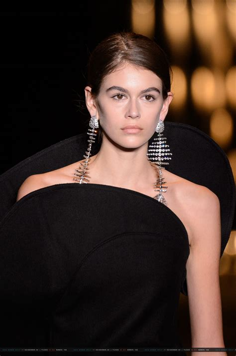 kaia gerber saint laurent kaia gerber at saint laurent show at paris fashion week 02