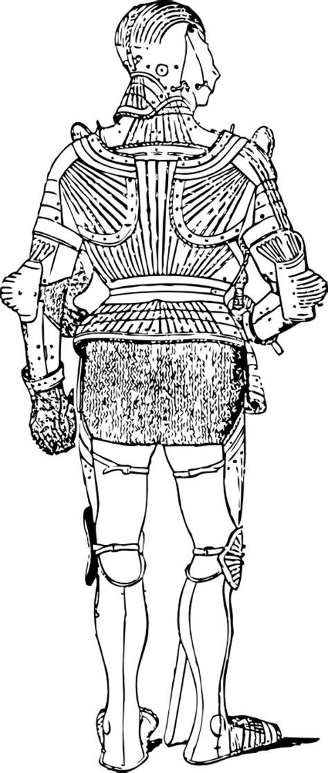 OnlineLabels Clip Art - Suit Of Armor - Back