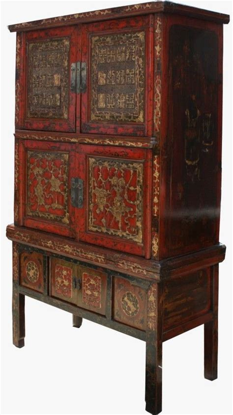 Asian Furniture Original Characters Carved Cabinet Cabinets