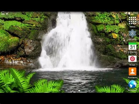 forest waterfall  wallpaper  os android youtube