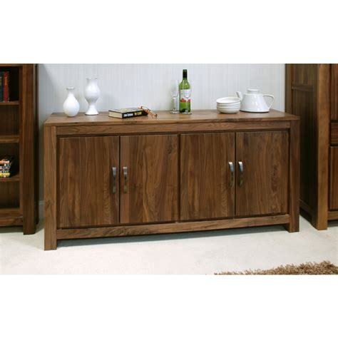 sideboard for living room mayan large low living dining room sideboard solid walnut wood furniture ebay