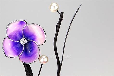 Kerzenhalter Lila by Deko Teelichthalter Blume 38cm Lila Kerzenhalter Metall