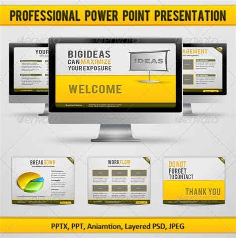 Professional Power Point Presentation Graphicriver Professional Ppt Presentation Sles