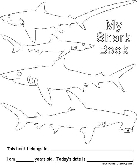 sharks a coloring book books shark book cover enchantedlearning