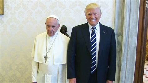 trump pope francis pope and trump meet at the vatican new york rush