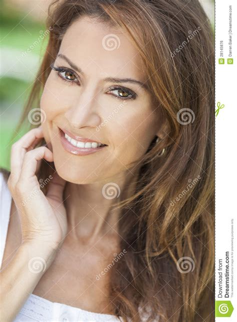 beautiful middle aged woman portrait of a beautiful middle aged woman royalty free