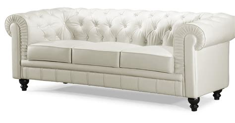 buy white leather sofa white leather tufted sofa