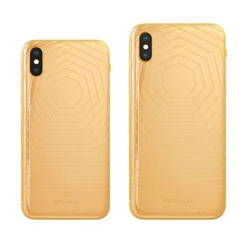 iphone xs and xs max classic in 24k yellow gold 18k gold or 950 platinum by brikk