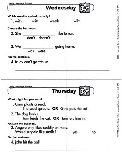 Daily Language Review Grade 1