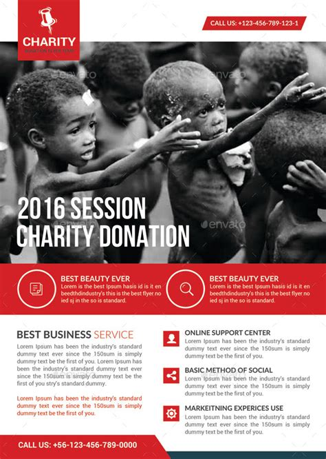Smart Answers To Use On Annoying Charity Collectors by Charity Donation Flyer Template By Graphicforestnet