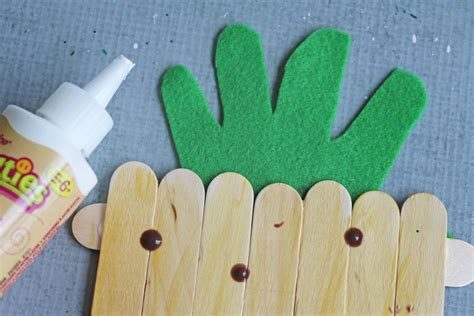 kid crafts with popsicle sticks pineapple craft for with popsicle sticks darice