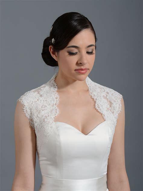 braut bolero ivory ivory sleeveless alencon lace bolero wedding bolero jacket