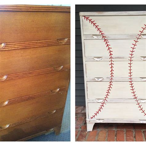 baseball themed drawer pulls diy dresser ideas from hgtv fans hgtv s decorating