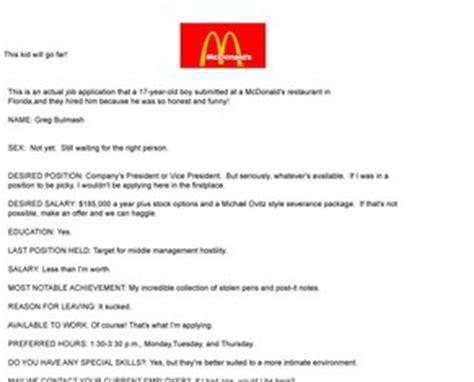 Lebenslauf Lustige Bilder Mcdonalds Bewerbung Lebenslauf