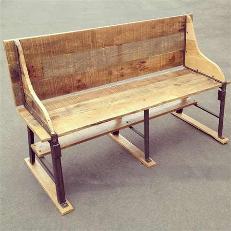 reclaimed oak bench reclaimed oak and industrial bench heirlooms and hardware